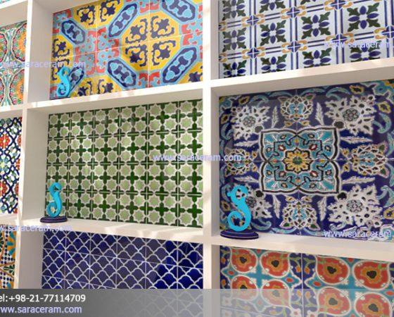 کاشی 20 در 20 طرحدار ایرانی اسپانیایی مراکشی